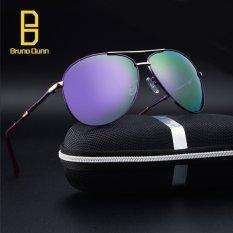 Baru Fashion Merek Designer Aviator Retro Aluminium + TR90 + Titanium Sunglasses Pria Terpolarisasi Lensa Vintage