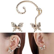 Amefurashi Anting Kristal Claw Silver Earhook Earring. Source · Baru Fashion Crystal Beauty Women Butterfly Cuff Ear Clip-Intl