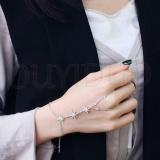 Harga New Fashion Finger Wrist Kompleks Rantai Disesuaikan Micro Aaa Premium Zirkon Bintang Gelang Rantai Untuk Wanita Perhiasan Pernikahan Pesta Ulang Tahun Hadiah Intl Satu Set
