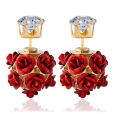 Baru Fashion Bunga Rose Women Girls Crystal Stud Earrings Gift RD-Intl
