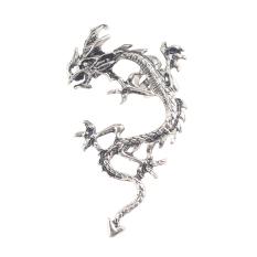 New Fashion Gothic Punk Temptation Metal Dragon Bite Ear Cuff Wrap Anting Jepit Silvery Dragon