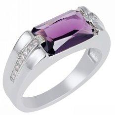 Review Toko Baru Fashion Perhiasan Amethyst Zircon 18Kt Emas Disepuh Wedding Ring Hadiah Ukuran 8 Sampai 15 Gr69488 Intl