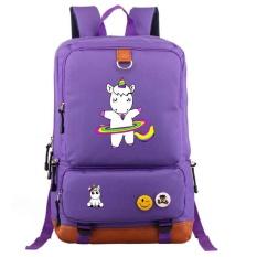 Baru Lucu Unicorn DAB Backpack Pria Gadis Mahasiswa Sekolah Tas Travel Shoulder Bag Unicorn Mengoleskan Ransel-Intl