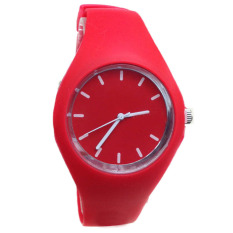 Jual New Geneva Silicone Watches Fashion Sports Outdoor Unisex Candy Color Watch Red Geneva