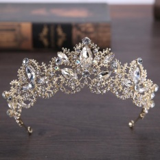 Rp 108.000. New Handmade Vintage Baroque Crown Gold Plated ...