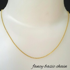 New.. Kalung Emas Asli Kadar 700 Fancy Chain 1.1  gram