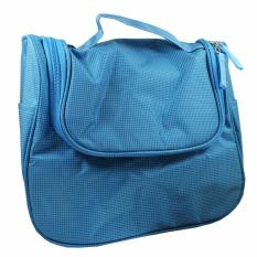 Jual New Korean Toiletries Bag Tempat Kosmetik Alat Mandi Biru