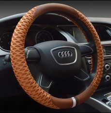 Spesifikasi New Leather Steering Wheel Covers Durable Breathable Comfortable Car Steering Wheel Cover Fits 38Cm Car Accessories Intl Paling Bagus