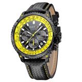 Jual Baru Man Olahraga Quartz Jam Tangan Kasual Kulit Jam Tangan Pria Army Watch Dengan Tanggal Kalender 93006 Intl