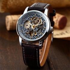 Toko New Men Classic Skeleton Automatic Mechanical Leather Strap Fashion Sport Military Wrist Watch Pmw074 Jam Tangan Pria Kulit Intl Murah Di Tiongkok
