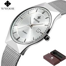 Cara Beli Baru Pria Jam Tangan Atas Brand Luxury 50 M Waterproof Ultra Tipis Tanggal Clock Male Steel Tali Jam Quartz Kasual Pria Wrist Jam Tangan Olahraga Internasional