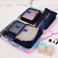 Toko Baru Multi Fungsi Perjalanan Tas Pria Women Portable Tas Penyimpanan Kosmetik Pouch Clothing Case 6 Pcs Dark Biru Intl Indonesia