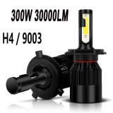 Baru Sepasang 9003 H4 6000 K Led Total 300 W 30000Lm Combo Headlight High Low Berseri Seri Internasional Asli