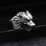 Beli New Punk Stainless Steel Wolf Ring Head Biker Gothic Hammer Accessories Intl Online Tiongkok