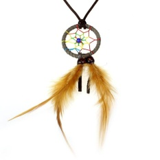 Baru Retro Dream Catcher Pendant Long Chain Necklace Girl Jewelry GR-Intl