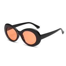 Baru Retro Kecil Kotak Sunglasses Pria dan Women Tren Sunglasses-Black Box Lembar Gray Hitam-Intl