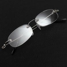 Jual Baru Tanpa Bingkai Perak Super Ringan Tanpa Bingkai Kacamata Baca Kaca Pembesar Membawa Wadah 1 00 Oem