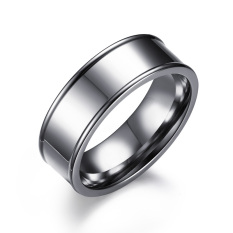 Review Baru Sederhana Stainless Steel Perhiasan Cincin Pertunangan Cincin Pernikahan With Ukuran Us 4 For 15 7Mm W Cincin Grosir Oem Di Tiongkok