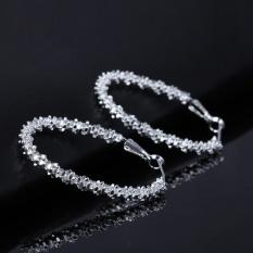 Grosir Baru Wanita Perhiasan 925 Kawat Perak Sterling Bintang Ring Anting-anting Gantung