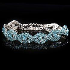 Spesifikasi Baru Wanita Kristal Gelang Berlian Imitasi Biru Intl Beserta Harganya