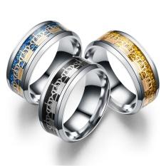 Terbaru 8mm Karbida Titanium Cincin Baja untuk Perhiasan Pria Wanita 316L Cincin Kawin Stainless Gaya 2-Four Leaf Ukuran TANAMAN #12-Internasional