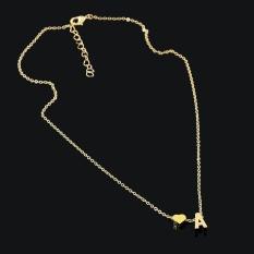 Terbaru Produk Panas 26 Surat Jantung Berbentuk Charm Pendant Kalung Pecinta Hadiah Emas/Perak Berlapis Women Kalung Sederhana -Silver-Intl
