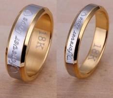 Terbaru Unisex Pria Wanita Selamanya Love SILVER DISEPUH Fashion Couple Steel Ring-Perak Ukuran Wanita #6-Intl