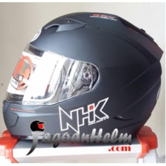 Jual Beli Nhk Helm Gp1000 Solid Black Doff