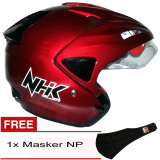 Harga Nhk Predator Solid Maroon Hitam Gratis Masker Np Baru