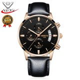 Diskon Produk Nibosi Men S Business Casual Watch Men Luxury Brand Quartz Military Sport Watch Leather Band Men Wristwatches Relogio Masculino 2309 Intl