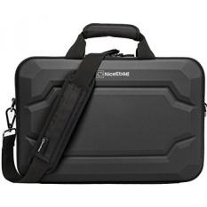 Niceebag EVA Multi-fungsional Briefcase Multi-compartment Tas Tangan 15.6 Inch Laptop Casing Kurir Tas Termasuk Tali Bahu untuk macBook/Acer/Ponsel/Dell Alienware/Lenovo/Pria/Wanita (Hitam) -Internasional