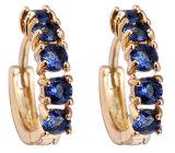Harga Hemat Niceeshop 18 K Kuning Emas Disepuh Blue Rhinestone Indah Batu Kristal Hoop Earrings Emas Biru Intl