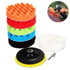 Niceeshop 8 Pcs 7 Inches Compound Drill Buffing Sponge Bantalan Kit Untuk Mobil Pengamplasan Pemolesan Waxing Sealing Glaze Intl Diskon Akhir Tahun