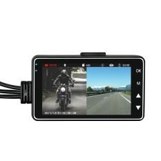 NiceEshop Pengemudi Action Camera, Portable Motor Mobil Sport Carcorder Depan HD Display 3.0 ''LCD Split Screen Dual-track-Intl