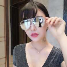 Niceeshop Fashion Logam Frame Datar Mirrored Lensa Kacamata Silver Frame Lensa Perak Intl Di Tiongkok