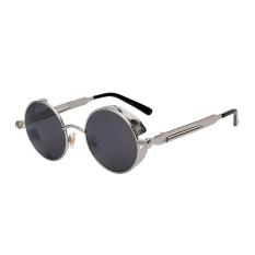 Harga Niceeshop Gothic Steampunk Kacamata Untuk Wanita Pria Round Lensa Bingkai Logam Silver Frame Lensa Hitam Intl Niceeshop Ori