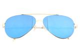 Harga Hemat Unisex Vintage Trendi Selebriti Kamis 15 Kacamata Penerbang Logam Emas Emas Frame Biru Lensa Niceeshop Internasional