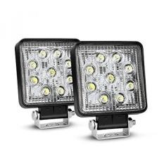 Nilight LED Light Bar 2 Pcs 27 W Spot Fog Light Off Lampu Jalan Lampu Yang Menyala Perahu Lampu Mengemudi Lampu LED Work Light SUV Jeep Lampu, 2 Tahun Garansi-Intl