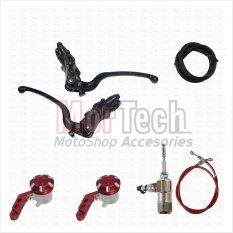 Nissin Paket Kopling Hidrolik Master Rem  + Tabung minyak Yamaha R25 Merah