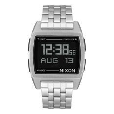 NIXON A1107000 Base - Jam Tangan Pria - Chronograph - Stainless - Silver - Black