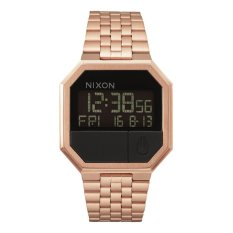 NIXON A158897 Re-Run - Jam Tangan Pria - Stainless - Rose Gold - Black