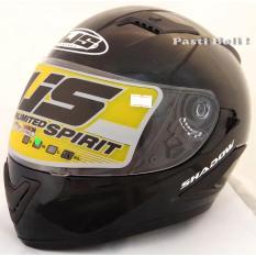 NJS - Shadow Black Full Face Helmet Glossy