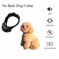 Beli No Bark Collar Bisa Disesuaikan Bark Stop Perangkat Pelatihan Dengan 5 Tingkat Sensitivitas Dan Getaran Untuk Anjing Dengan Aman Berhenti Menggonggong Hitam Kredit