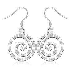 Tidak Ada Wanita Klasik Geometris 3.9X2.3 Cm Silver Plated Earrings Online Silver Berlapis-Internasional