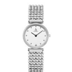 Nonof Baru Ladies Watch Fashion Wanita Slim Pearl Series Waterproof Ultra-tipis Watch Gift Leather Watch Strap Watch (whiteBlack)