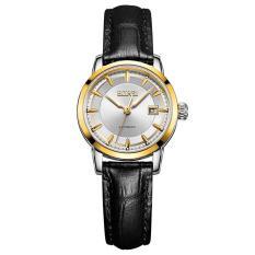 Noonbof 24 Pria Watch Genuine Treasure Shuttle Bor Impor Mesin Automatic Mechanical Watch Tahan Air Pria's Luminous Strip (1 X Wanita Watch) (GoldSilver)