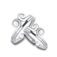 Norma S925 Jepang dan Korea Selatan sterling silver perempuan Wukong cincin pasangan cincin