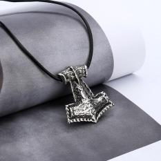 Norse Viking Amulet Pendant Kalung Raven Hewan Viking Thor Hammer Perhiasan-Intl