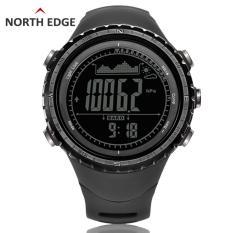 North Edge Jam Digital Olahraga For Pria dengan Alat Pengukur Tinggi Barometer Kompas Termometer Prakiraan Cuaca Alat Pengukur Langkah Pendakian Lari Renang And Bersepeda