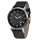Beli North Luxury Mens Kulit Asli Band Analog Quartz Watches Wrist Watch Bk Intl Lengkap